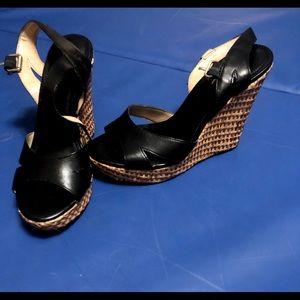 Banana Republic Black Wedge Sandals